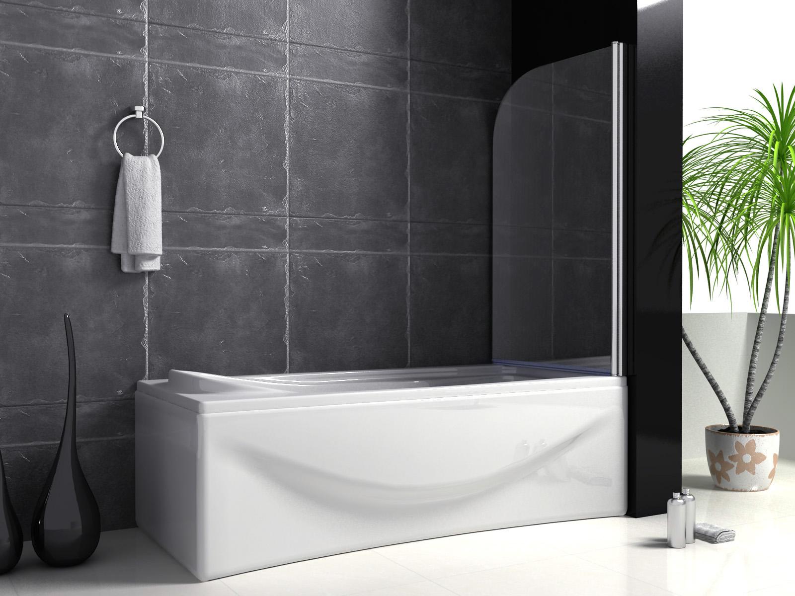 80x140cm badewanne dusche drehen 180 duschwand trennwand duschabtrennung b1. Black Bedroom Furniture Sets. Home Design Ideas