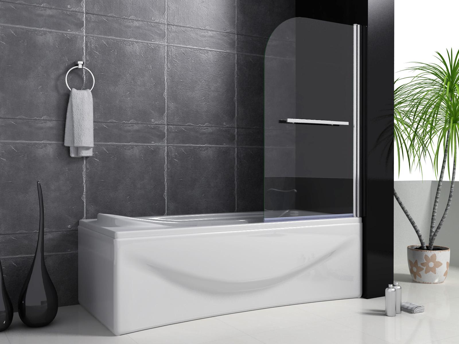 Trennwand Dusche Glas : Trennwand Badewanne Dusche : 80x140cm ...