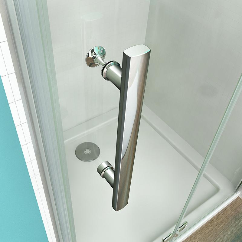 Pivot Hinge Shower Door Enclosure 6mm Safety Glass Screen