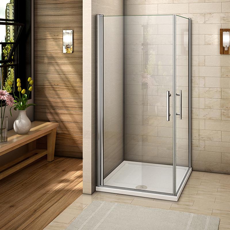 Aica Pivot Hinge Quadrant Corner Entry Shower Enclosure
