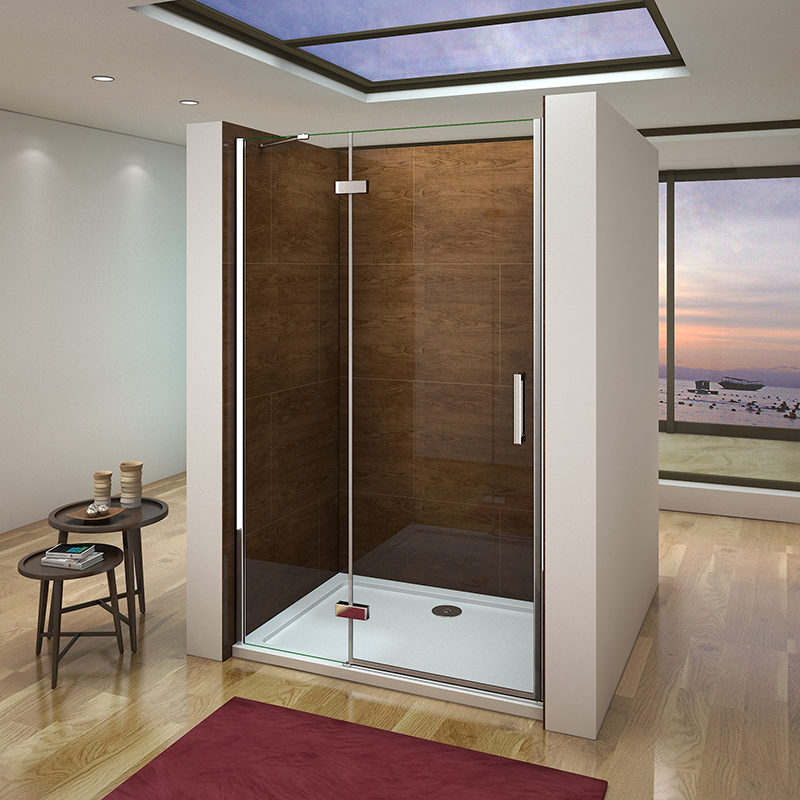 frameless pivot bifold shower enclosure door glass screen panel 760 800 900 1000 ebay. Black Bedroom Furniture Sets. Home Design Ideas