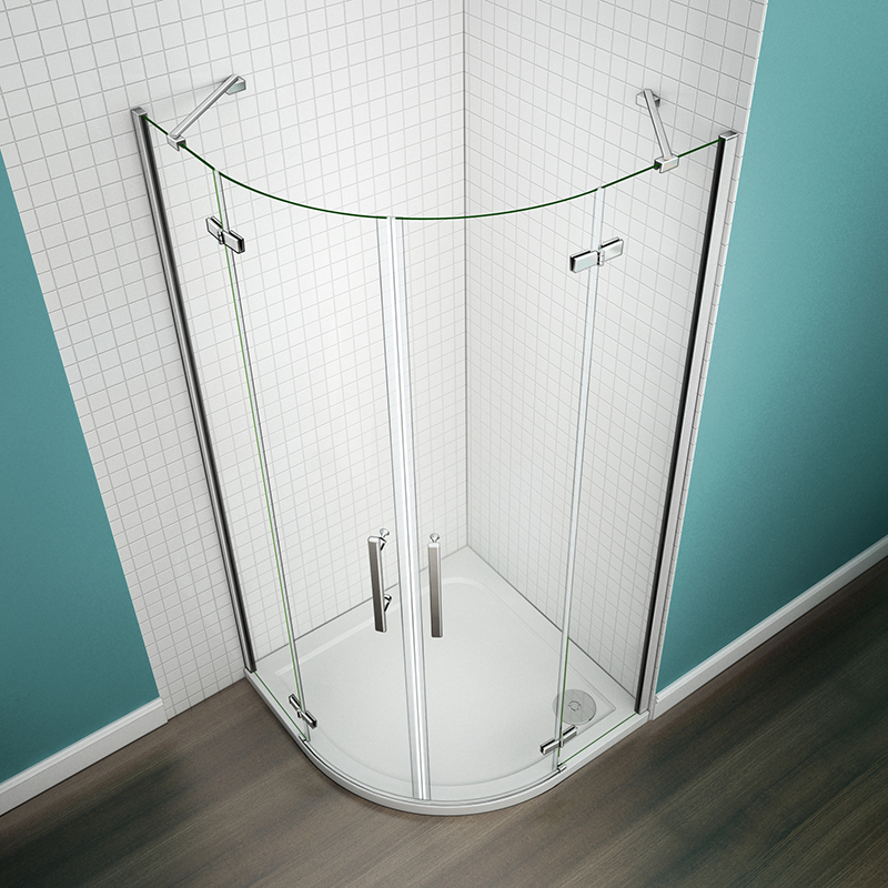 Frameless Quadrant Shower Enclosure Hinge Glass Screen