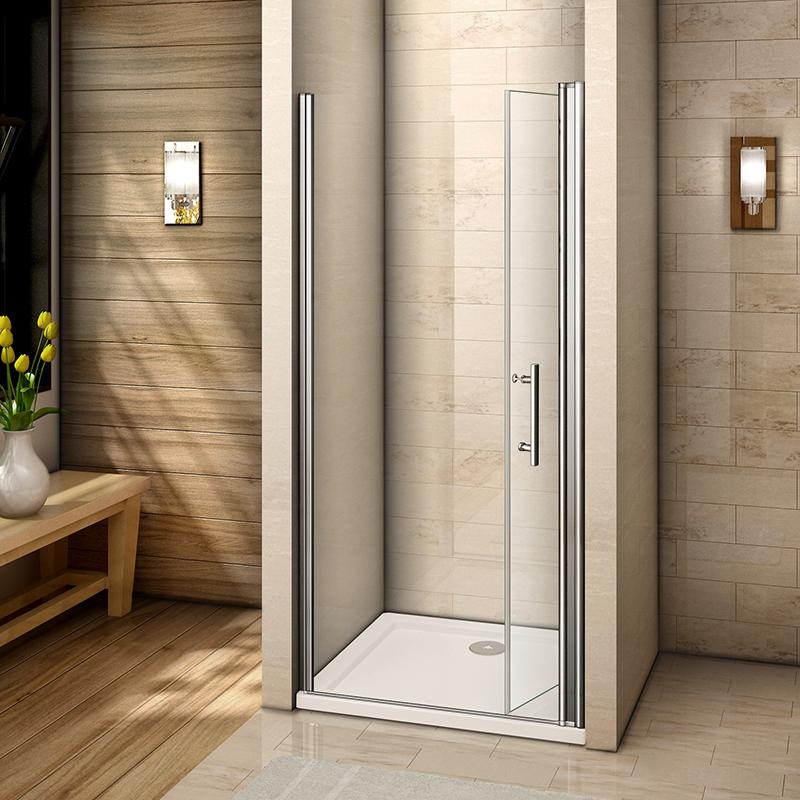 Bifold Pivot Hinge Sliding Wet Room Shower Door Enclosure