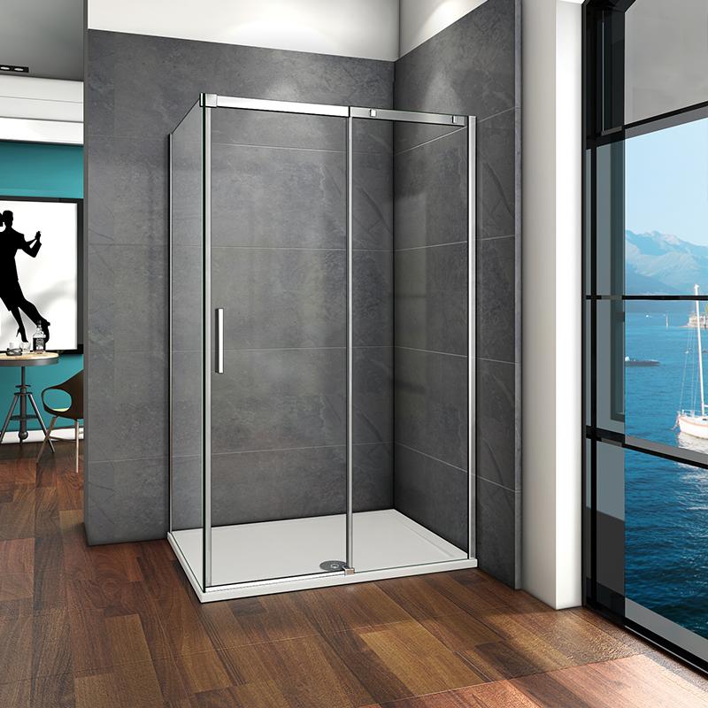 120x195cm duschkabine duschabtrennung schiebet r duschwand for Dusche ohne tasse