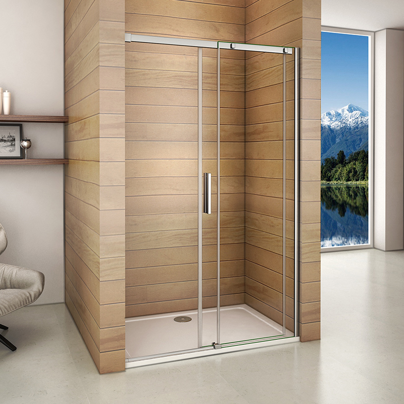 Bathroom Doors Waterproof: Aica Frameless Sliding Shower Enclosure Door & Tray Walk