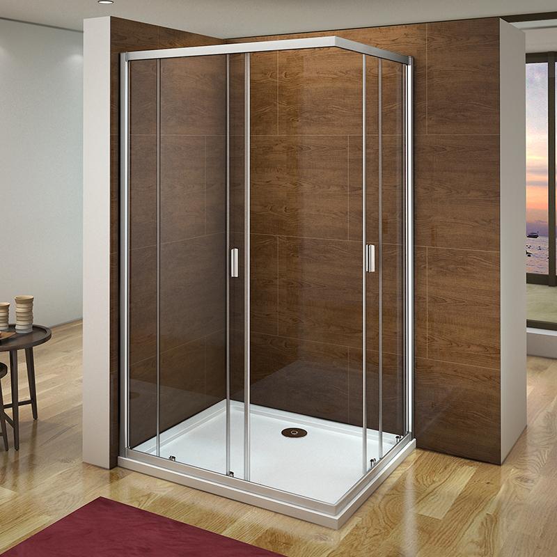 Corner Entry Shower Enclosure Tray Sliding Door Safety