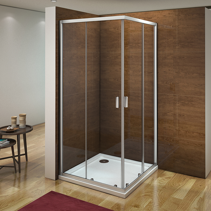 Corner Entry Shower Enclosure Tray Sliding Door Safety