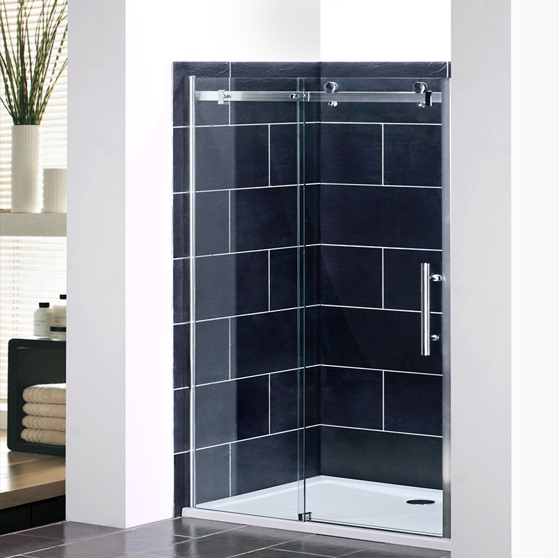 2000mm frameless sliding shower door enclosure and tray for 10 panel glass door