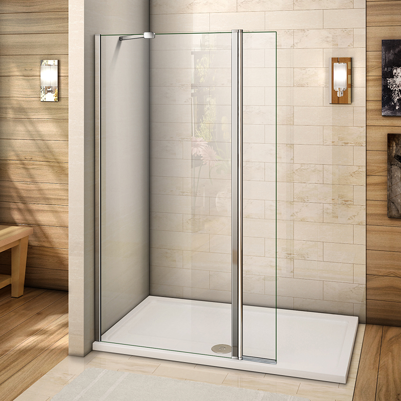Mm Wet Room Screen With Flipper Panel