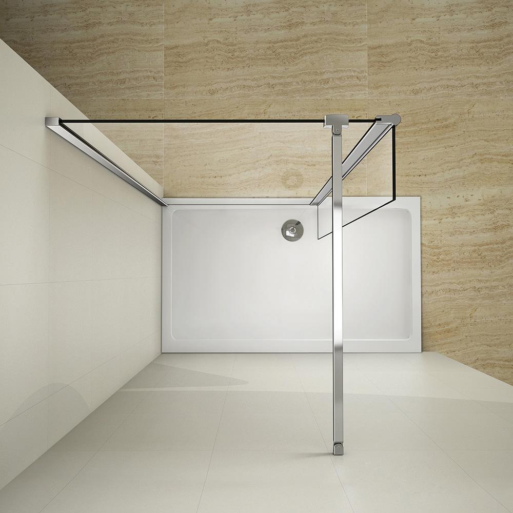 Wet Room Shower Enclosure Walk In Cubicle Screen Flipper