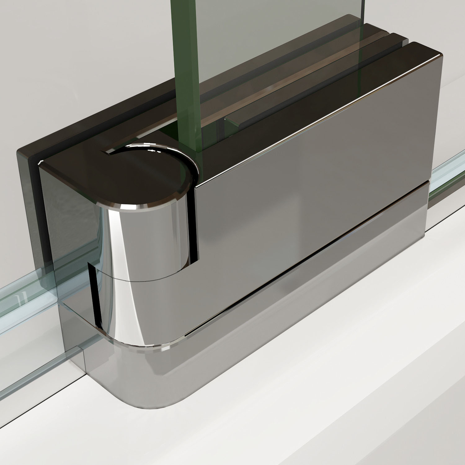 Aica Frameless Pivot Shower Door Enclosure And Tray 8mm