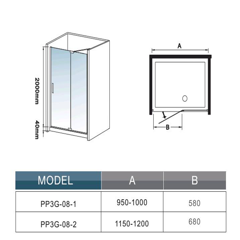 New frameless pivot shower enclosure 8mm glass screen door for 1000 pivot shower door