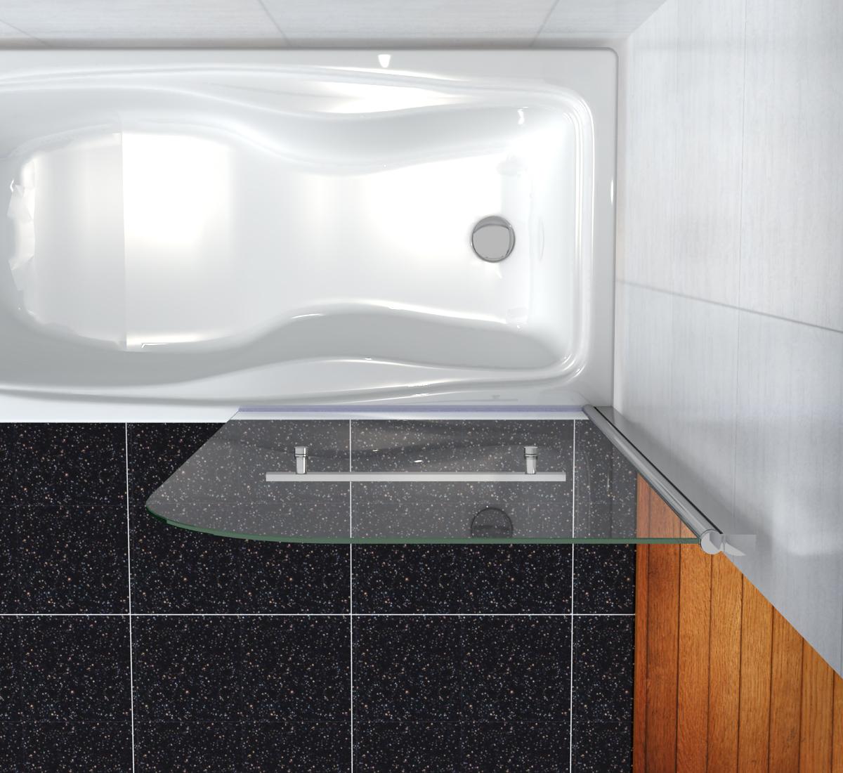 800x1400mm 180 Pivot Bath Shower Screen Door Panel 6mm Glass Seal NEXT DAY D
