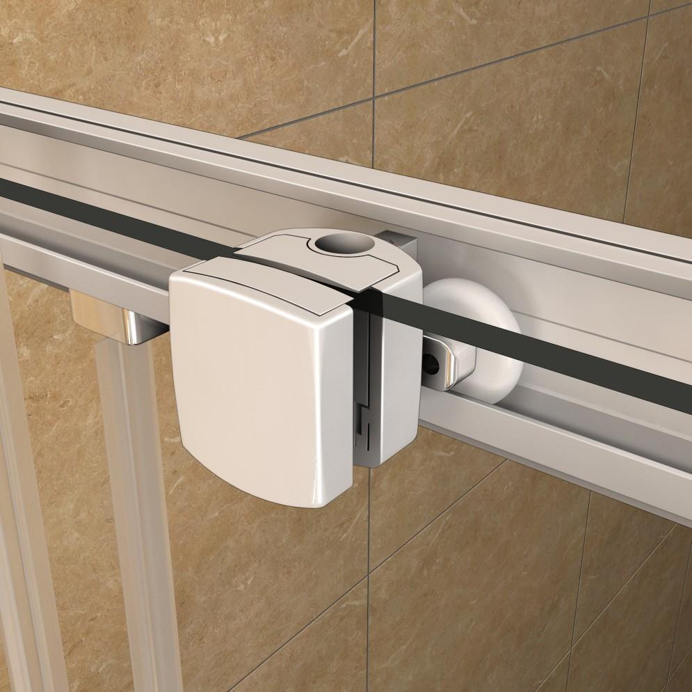 duschkabine doppel schiebet r eckeinstieg echtglas dusche duschwand duschtasse a ebay. Black Bedroom Furniture Sets. Home Design Ideas