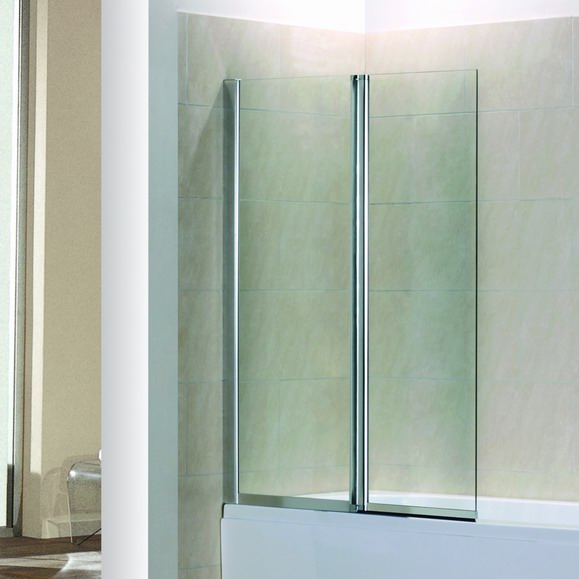 fold folding chrome bath shower screen ebay