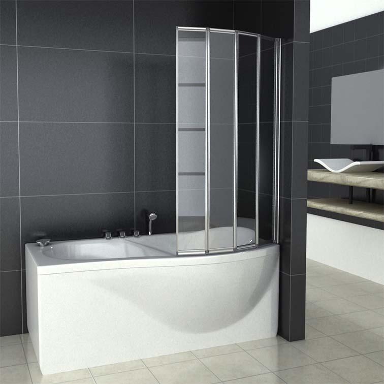 4 folds and 5 folds folding bath shower screen bathroom for Folding shower for small bathrooms