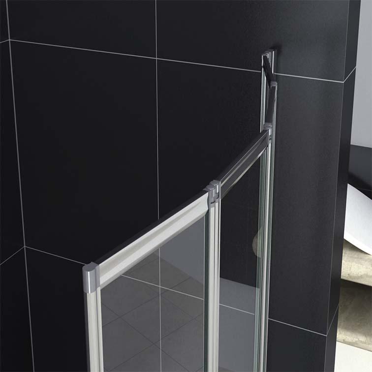 1/2/3/4/5 Folds Folding Chrome Bath Shower Screen Bathroom