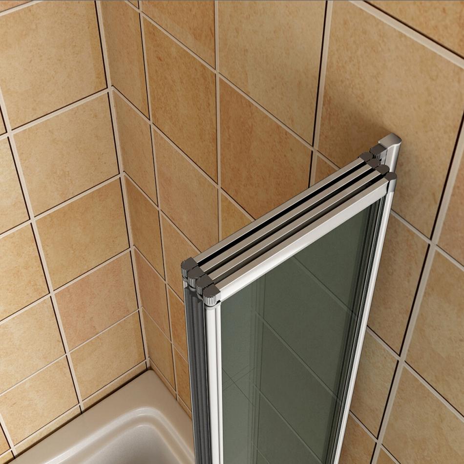 Aica 800 Over Bath Folding Shower Screen 4 Fold Door Panel