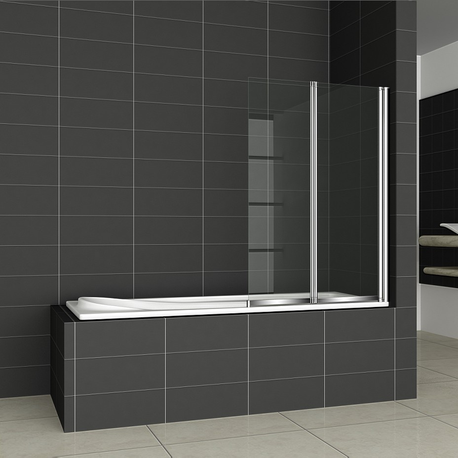 1 2 3 4 5 folds folding chrome bath shower screen bathroom. Black Bedroom Furniture Sets. Home Design Ideas