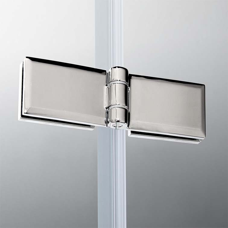 1000x1400mm Pivot Hinge 4 Fold Bath Shower Screen Chrome