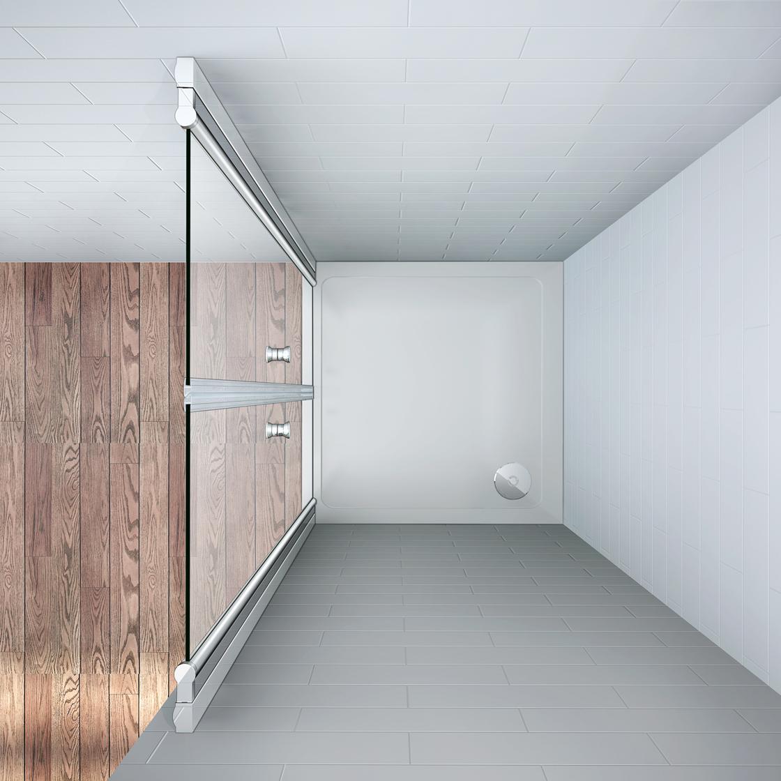 195cm duschabtrennung nano glas nischent r dusche for Dusche ohne tasse