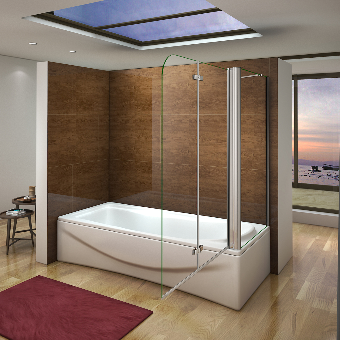 faltwand badewannenaufsatz duschwand nano glas. Black Bedroom Furniture Sets. Home Design Ideas