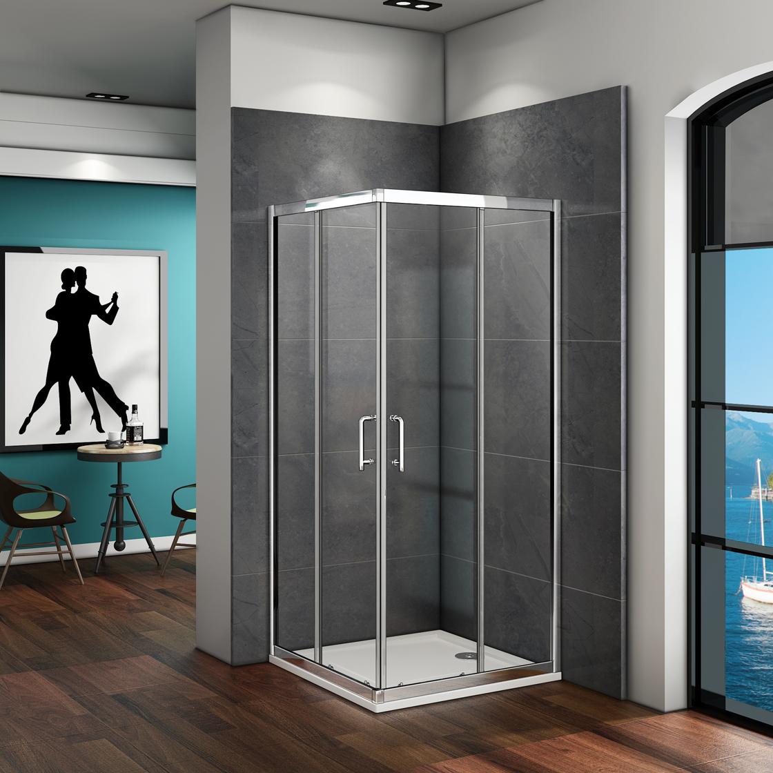 90x90cm duschkabine schiebet r duschabtrennung duschwand dusche eckeinstieg cm99 ebay. Black Bedroom Furniture Sets. Home Design Ideas