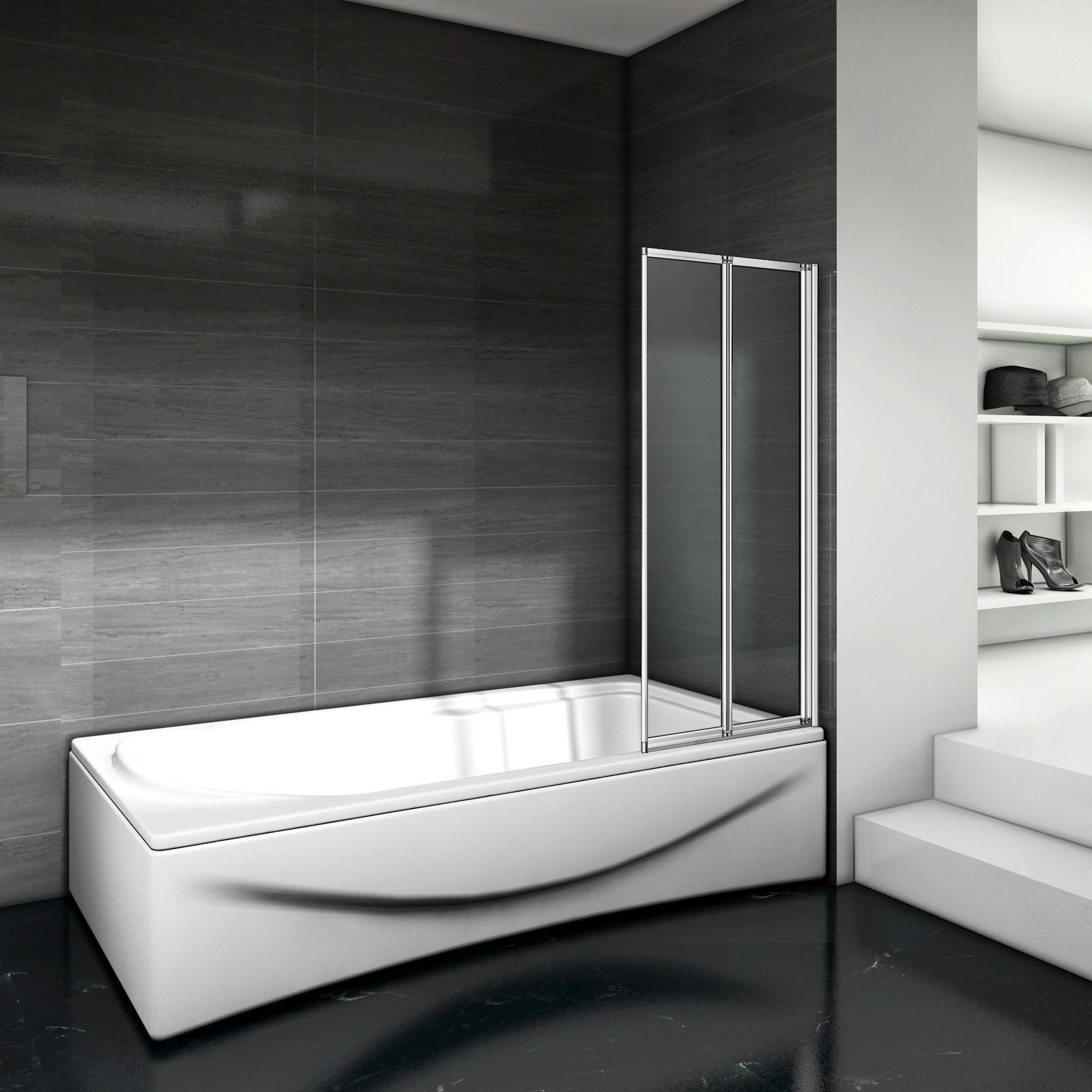 Parete da vasca schermo doccia pieghevole cristallo for Parete vasca pieghevole