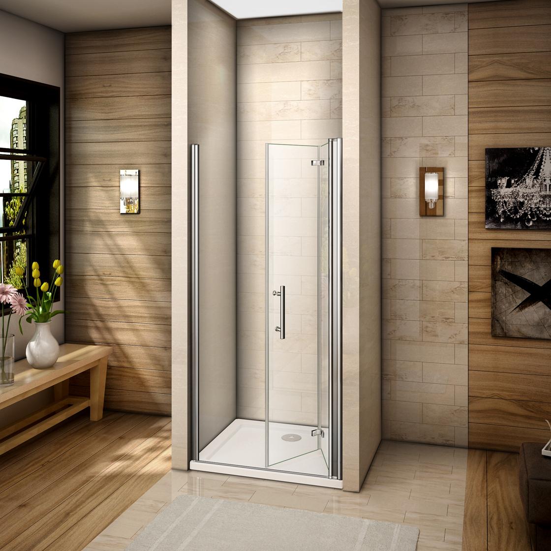 duschabtrennung faltt r duschkabine schwingt r duschwand eckeinstieg dusche hp b ebay. Black Bedroom Furniture Sets. Home Design Ideas