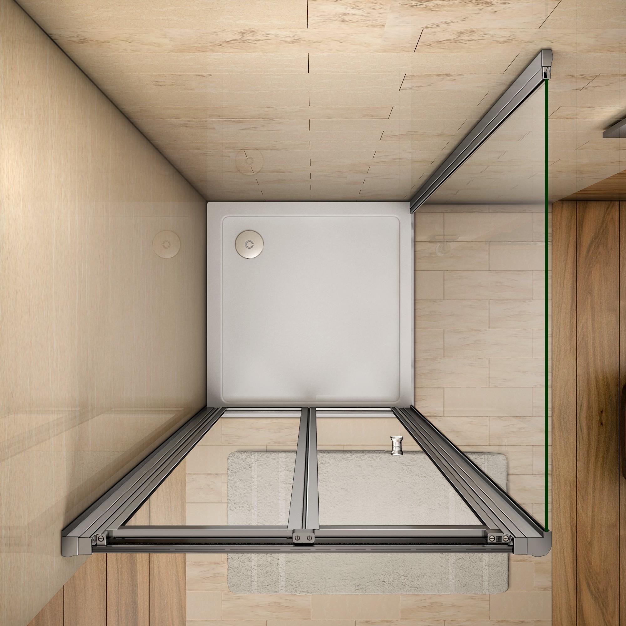 duschkabine duschabtrennung klappt r dusche duschwand mit duschtasse 90x70cm ebay. Black Bedroom Furniture Sets. Home Design Ideas