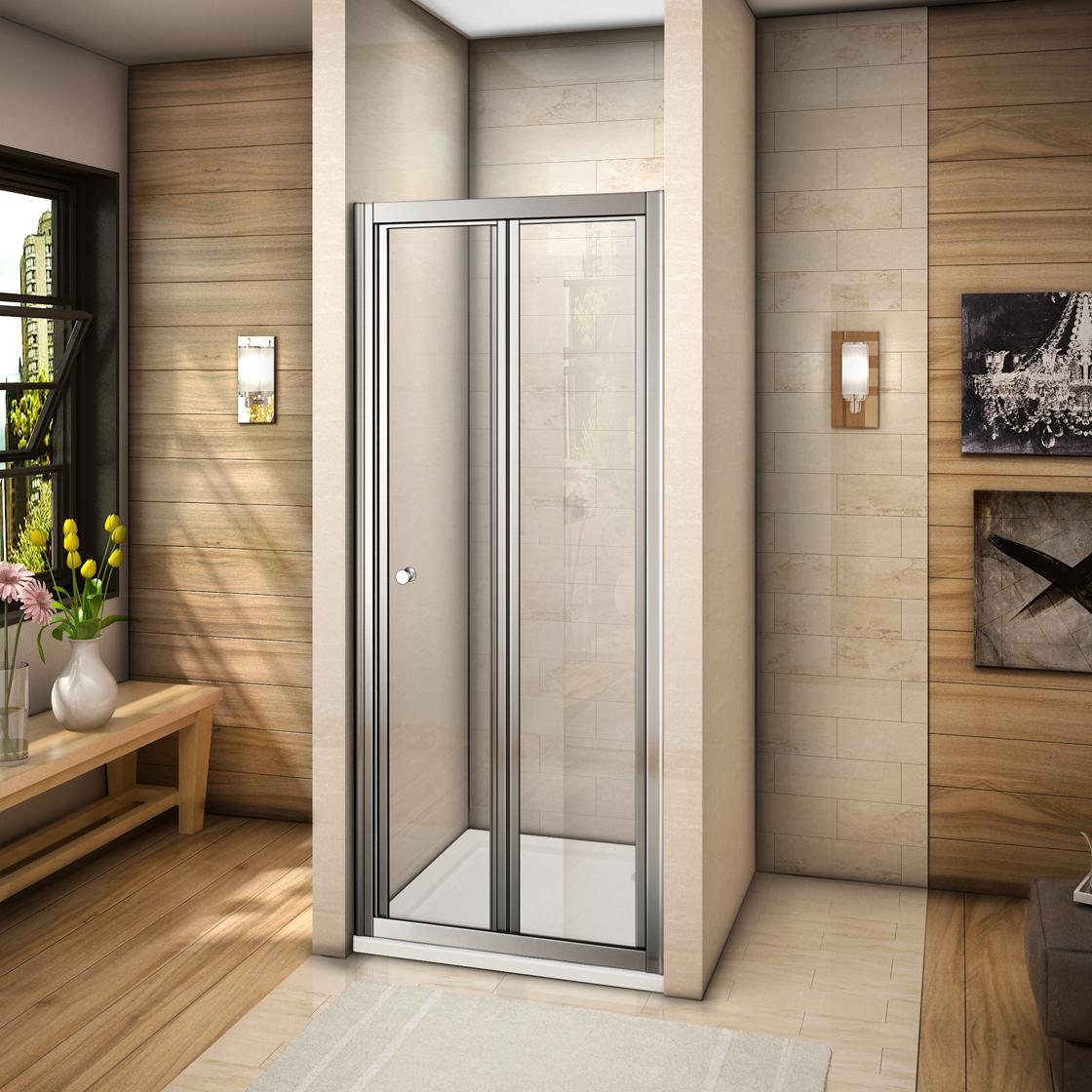 duschabtrennung duschkabine nischent r faltt r duschwand mit 90x80cm duschtasse ebay. Black Bedroom Furniture Sets. Home Design Ideas