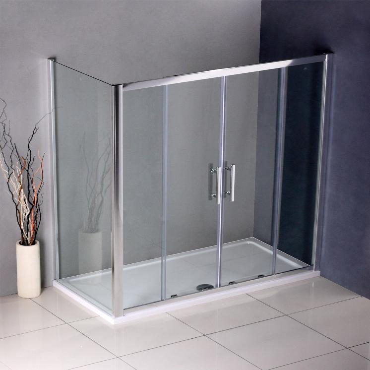 duschkabine doppel schiebet r duschabtrennung dusche echtglas 1200x800x1850mm. Black Bedroom Furniture Sets. Home Design Ideas