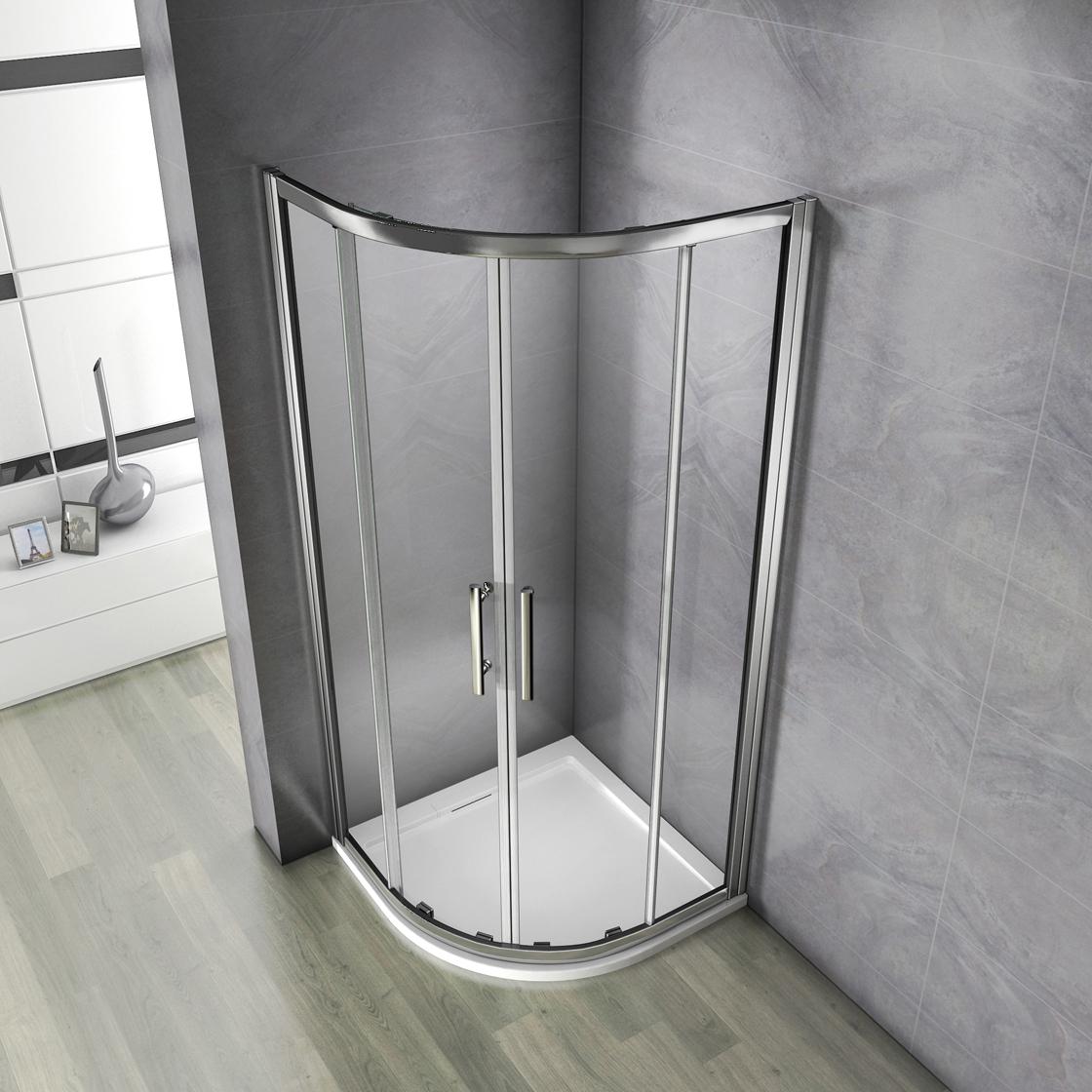 duschkabine runddusche viertelkreis duschabtrennung dusche acryl duschtasse195cm ebay. Black Bedroom Furniture Sets. Home Design Ideas