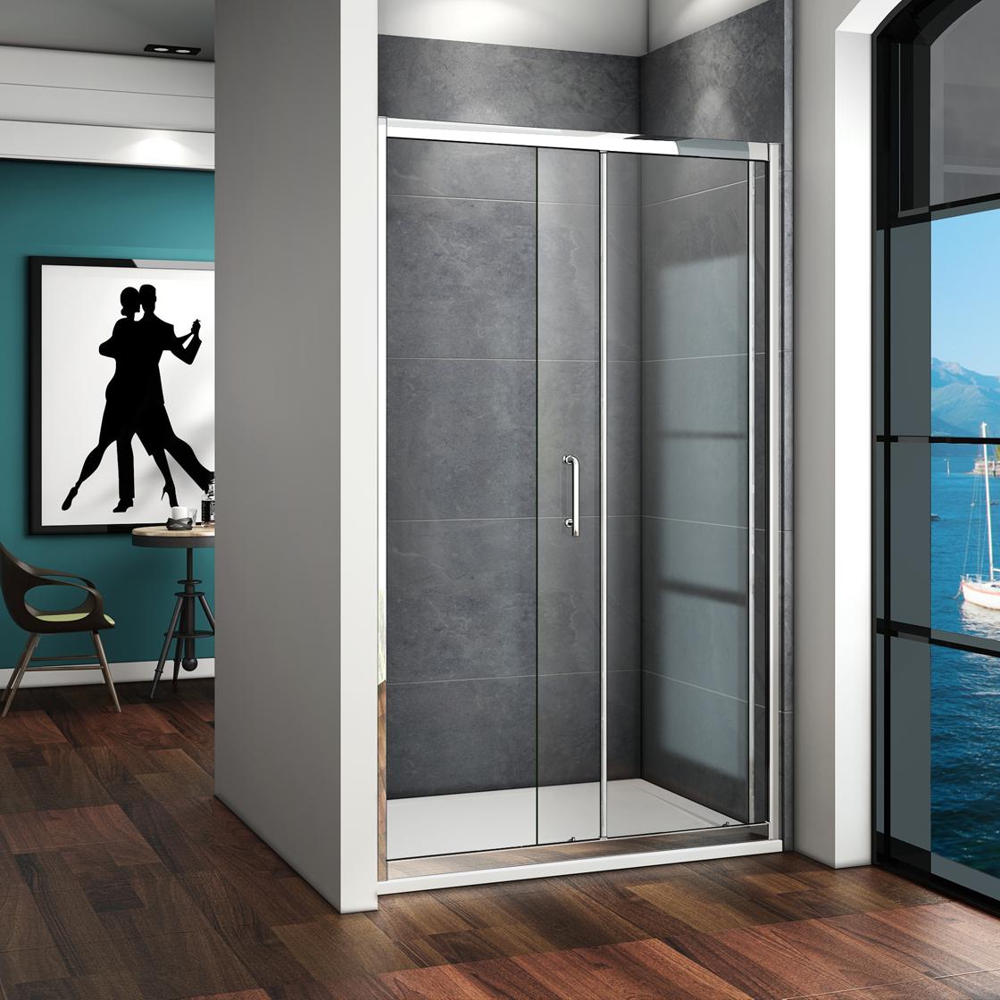 duschkabine duschabtrennung duschwand dusche schiebet r nischent r 100x185cm ebay. Black Bedroom Furniture Sets. Home Design Ideas