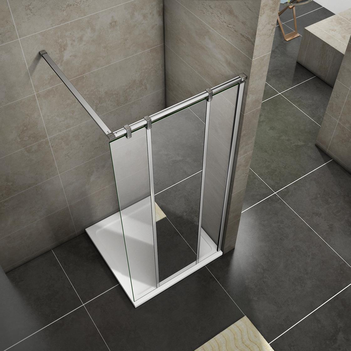 Quadrant pivot hinge sliding wet room shower door for Wet room shower screen 400mm