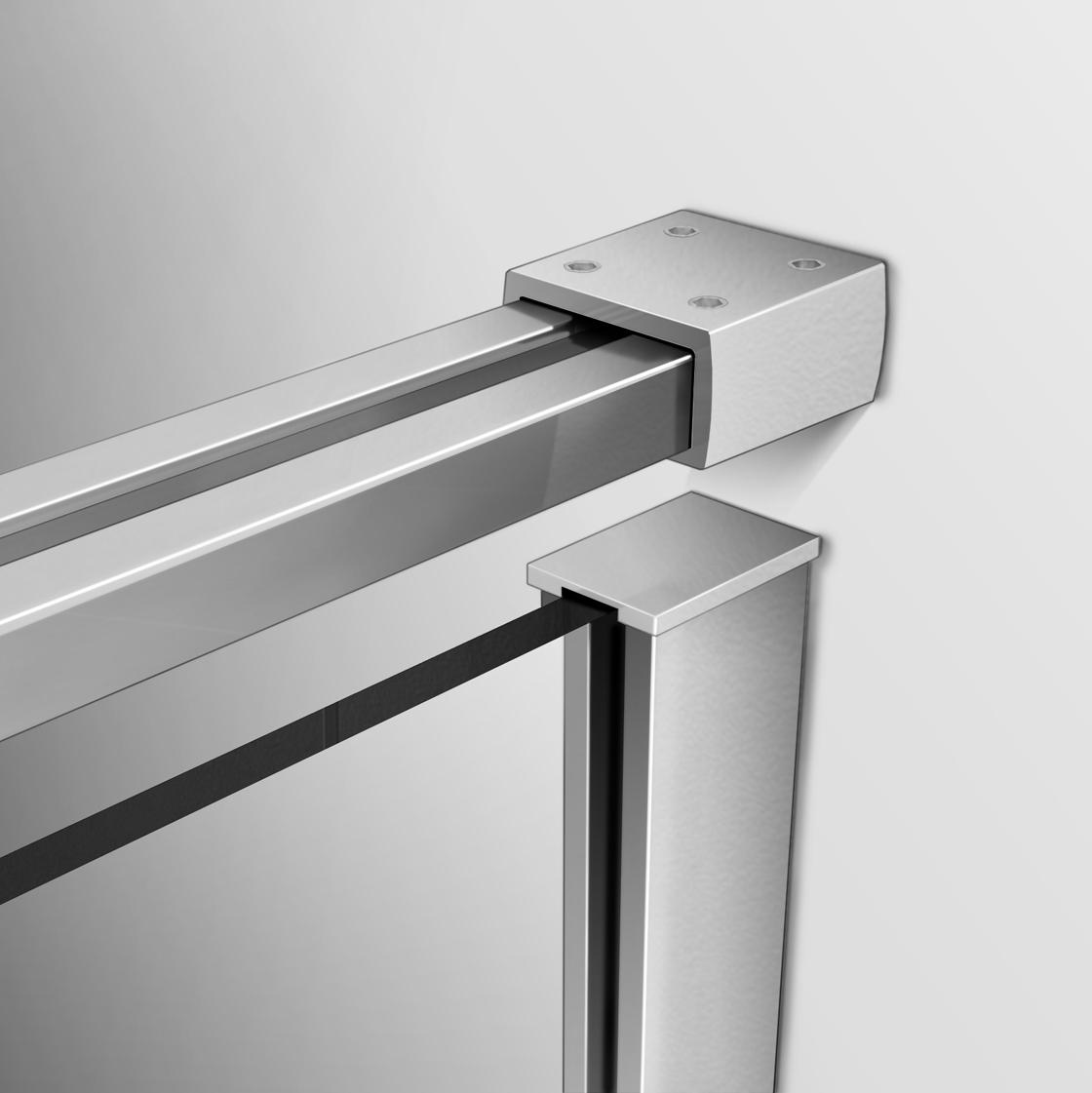 Dusche Glaswand Nano : in Dusche Duschwand Duschabtrennun g Echtglas 8mm NANO-Beschicht ung
