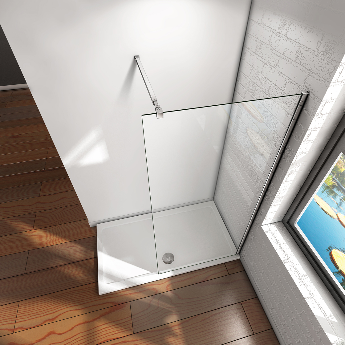 Dusche Glaswand Nano : zu 60x200cm Walk in Dusche Duschabtrennun g 8mm Nano-glas Duschwand