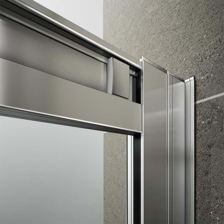 Double Sliding Glass Doors: 760x760mm Walk In Shower Enclosure Double Sliding Door