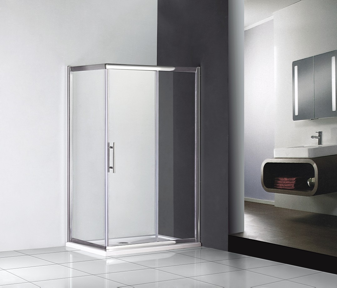 Details about shower enclosure single sliding door cubicle screen