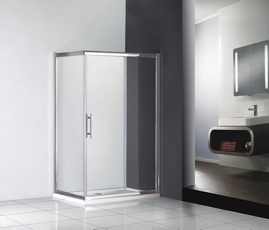 Details about shower enclosure single sliding door cubicle screen