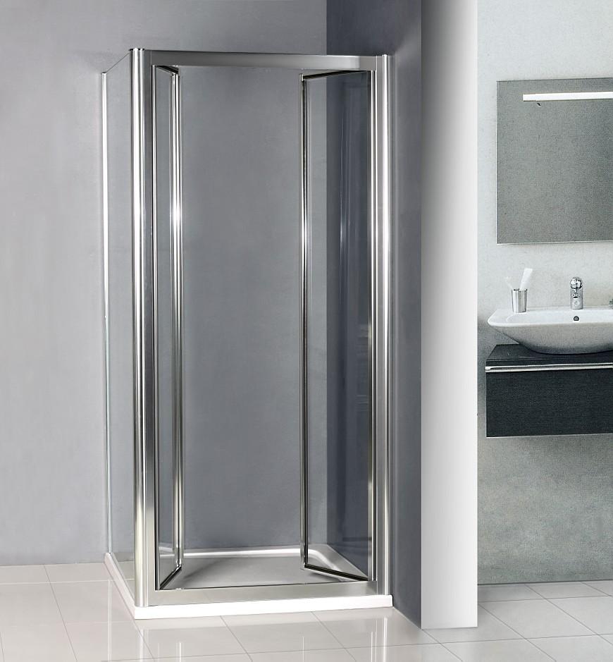 Space Saving Shower : Mm double pivot shower door enclosure inward space