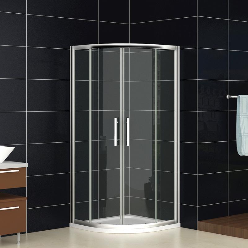duschkabine duschabtrennung viertelkreis dusche echtglas runddusche duschwanne n. Black Bedroom Furniture Sets. Home Design Ideas