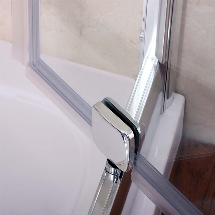 Bifold Pivot Hinge Sliding Wet Room Shower Door Enclosure