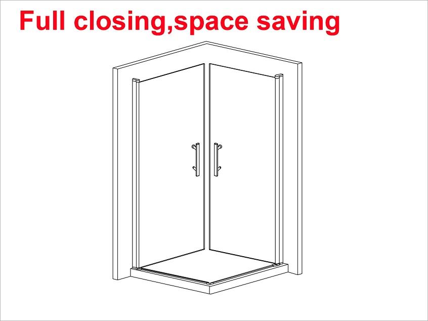 900x900mm frameless shower enclosure 180 swing pivot for 180 degree door swing