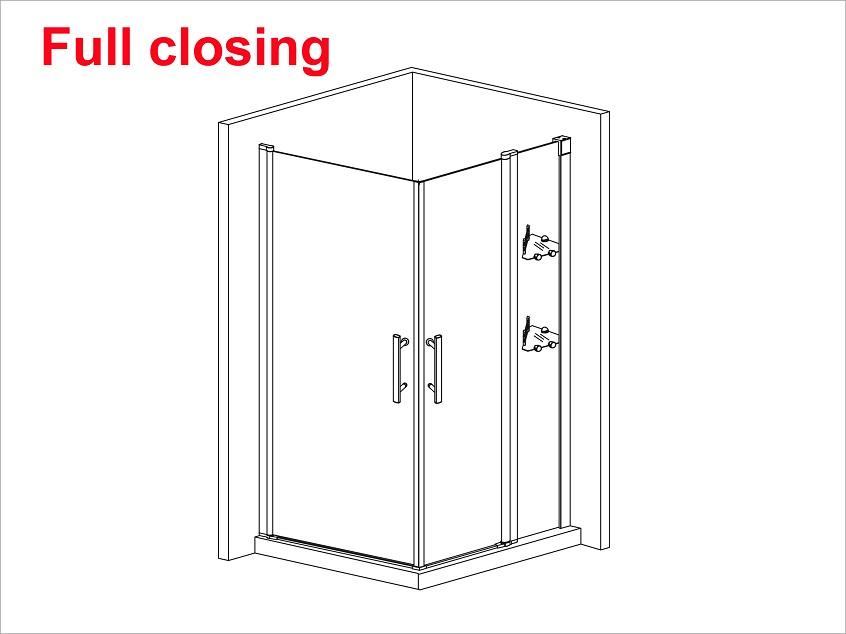 1200x900mm Walk In Shower Enclosure 180 176 Swing Pivot Glass