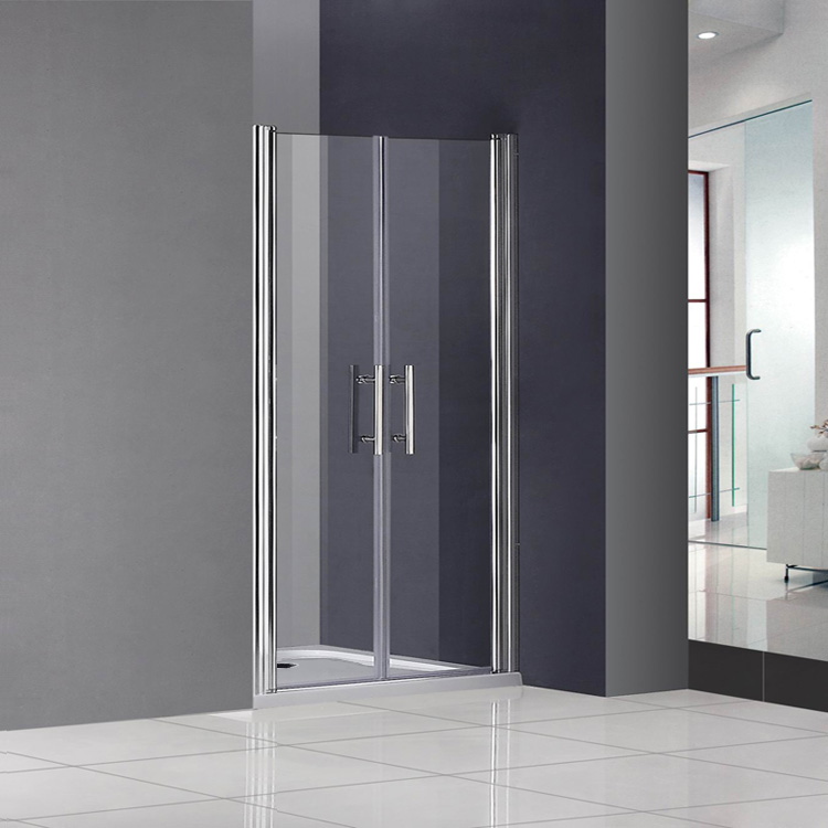 Bifold Pivot Hinge Sliding Wet Room Shower Door Enclosure Glass Screen Cubicl