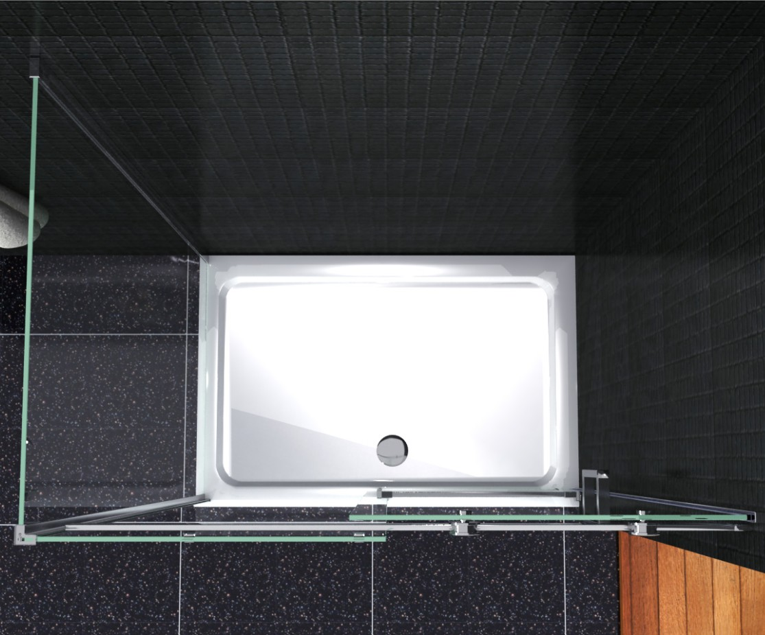 Luxury frameless sliding shower enclosure 8mm glass door for 10 panel glass door