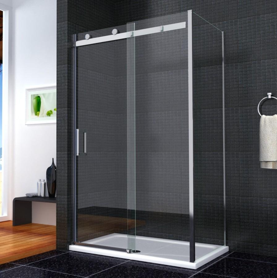 Luxury Frameless Sliding Shower Enclosure 8mm Glass Door