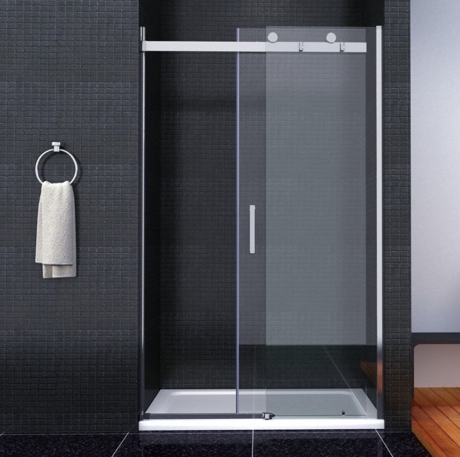 luxury frameless sliding shower door enclosure easyclean. Black Bedroom Furniture Sets. Home Design Ideas
