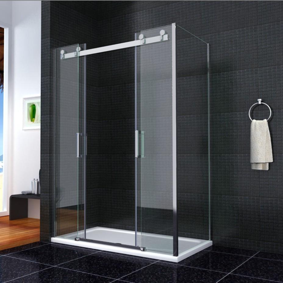 Luxury Double Sliding Shower Door Enclosure Glass Screen
